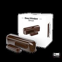 FGK-107 FIBARO Door Window Sensor Dark Chocolate, Z-Wave датчик відкриття дверей/вікна (темний шоколад)