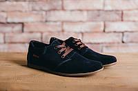 Подростковые замшевые синие повседневные туфли 701ВТ