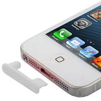 Заглушка от пыли и грязи для iPhone 5 белая !