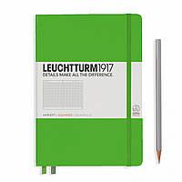 Блокнот Leuchtturm1917 Средний (A5) Свежий Зеленый в Клетку (14,5х21 см) (357489), фото 1