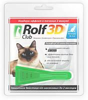 Капли от клещей и блох для кошек до 4 кг. RolfClub