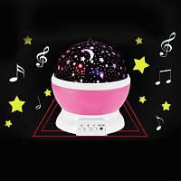 Ротари Мигающий Звездное Небо Музыкальный Декоративный Свет Розовый