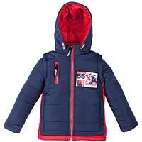 Демисезонная куртка-жилетка для мальчика 55