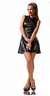 Женское кожаное платье (р. S,M,L) арт. 0863