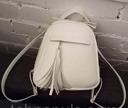 Рюкзак сумка трансформер женский белый Эк. кожа КТ