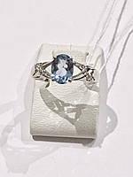 Кольцо серебряное танзанит