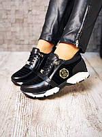 Стильные кроссовки женские комбинированные натуральная кожа+замша