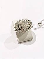 Кольцо серебряное узор