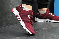 Кроссовки мужские Adidas Equipment (бордовые), ТОП-реплика, фото 1