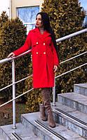 Красивое красное женское пальто , фото 1