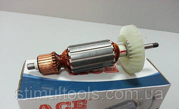 Якорь (ротор) для УШМ болгарки Makita 9553 / 9554 / 9555 / 9558(153*31.5/ посадка 6 мм)