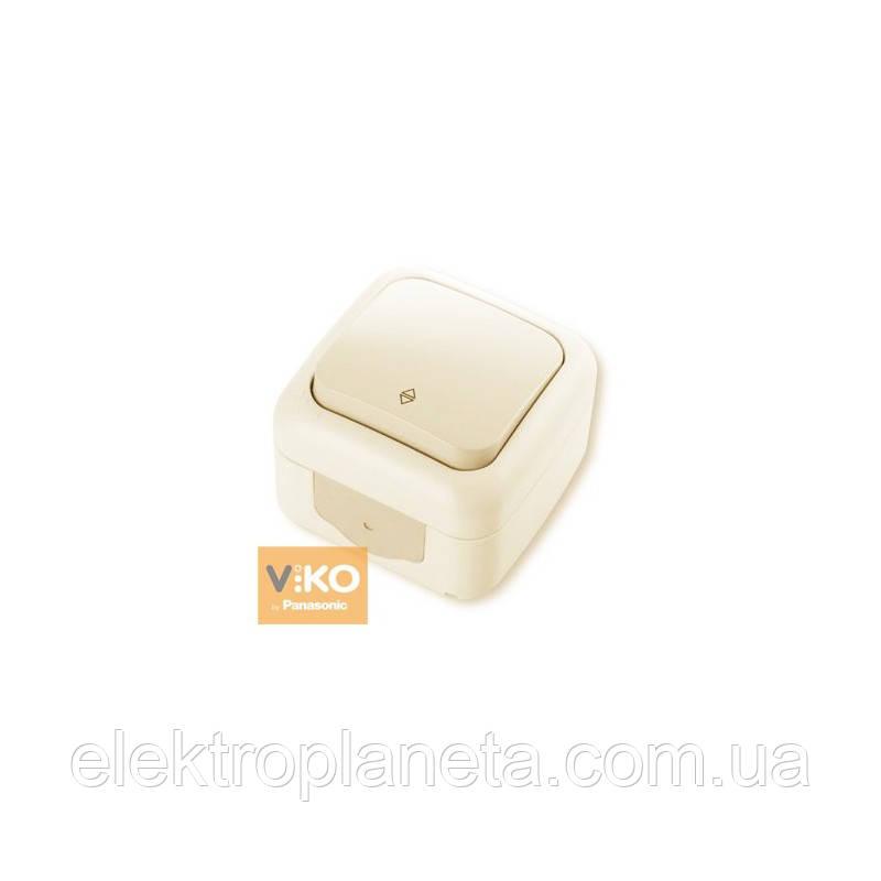 Выключатель 1кл. проходной PALMIYE  IP54 (крем)