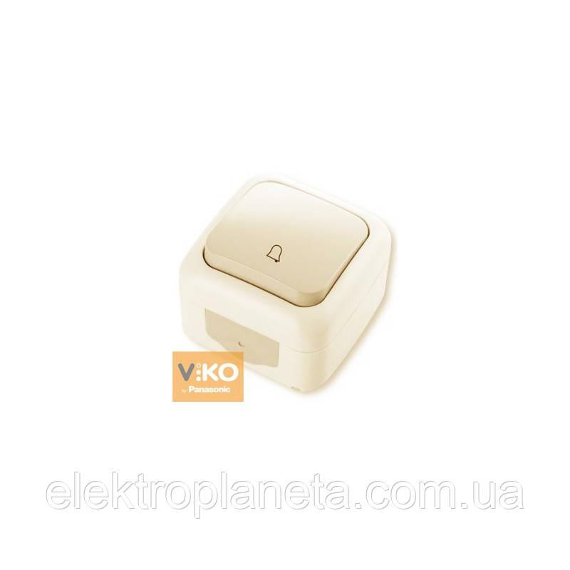 Кнопка звонка PALMIYE  IP54 (крем)
