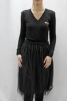 Платье миди с фатиновой юбкой