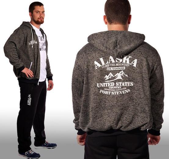 Теплый спортивный костюм мужской с начесомзимний Alaska