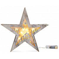 Звезда-образный Рождественские декоративные светодиодные свет творческий Ночной Светильник Тёпло-белый