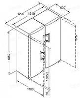 Холодильник Liebherr SBS 7212 (SK 4240+SGN 3063), фото 4