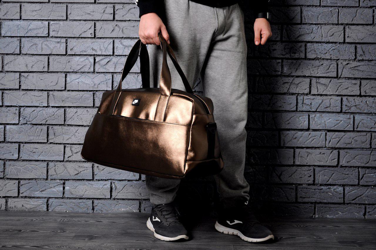 Прямоугольная спортивная сумка найк (Nike),эко-кожа