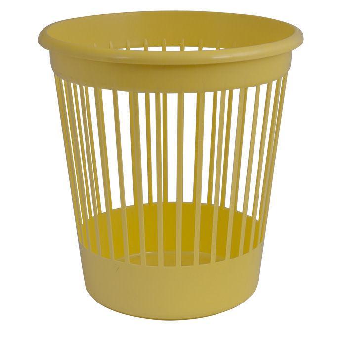 Корзина для бумаг офисная Арника 10л., пластик 8206*_Желтый