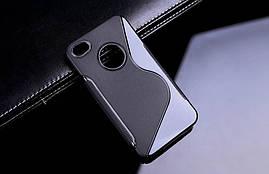 Чехол Apple Iphone 4 / 4S силикон S-LINE черный