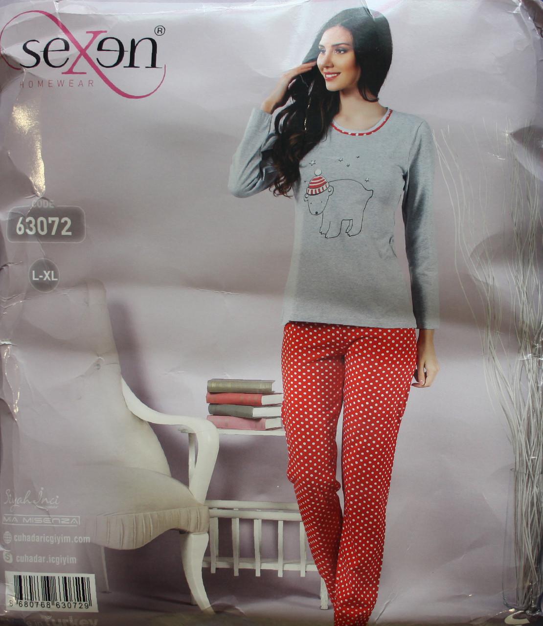 Жіноча піжама з довгим рукавом і брюками SEXEN 63072