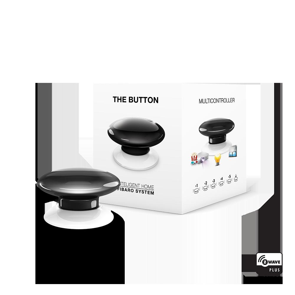 FGPB-101-2 FIBARO The Button (black), Z-Wave багатофункціональна кнопка (чорна)