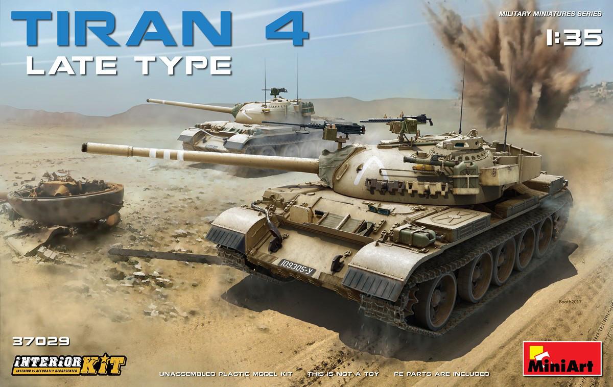 ТИРАН-4 поздняя модификация, сборная модель с интерьером. 1/35 MINIART 37029