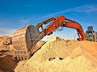 Песок овражный от 5 т с доставкой- по Киеву и обл