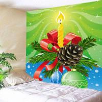 Висеть Стены Искусства Рождество Печать Гобелен Свечи ширина79дюймов*длина59дюймов