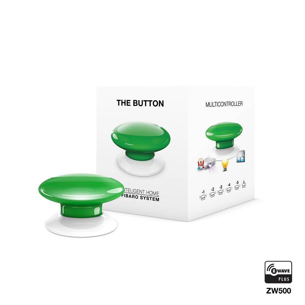FGPB-101-5, FIBARO The Button (green), Z-Wave багатофункціональна кнопка (зелена)