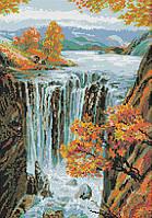 """Схема для вышивки бисером/крестом на габардине """"Водопад"""""""