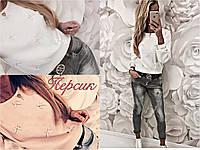 Женская кофта с бантиками   48+++, фото 1