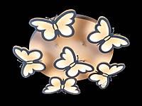 """Светодиодная люстра """"Бабочки"""" с пультом  8067-5+1"""
