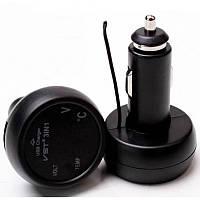 Часы автомобильные термометр вольтметр VST 706-5 USB