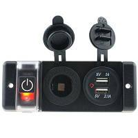 IZTOSS S1684 автомобильное зарядное устройство с USB для прикуривателя 12В Красный с чёрным