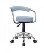 Стул для визажиста белый, барный стул(МАРСЕЛЬ Р белый)