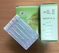 Иглы акупунктурные 0,25*25 для иглоукалывания с посеребренной ручкой стерильные 100 шт