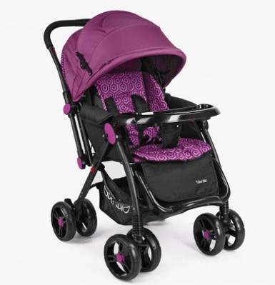 Коляска детская с перекидной ручкой Bambi M 3655-9 Purple