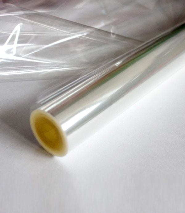 Пленка прозрачная для упаковки цветов рулон, Ширина 70см. х 24 м. толщина  30 мкм.