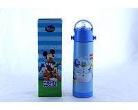 Термос детский с трубочкой Mickey Mouse Disney 500мл Голубой