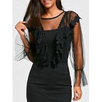 Видеть Сквозь Вышитая Блузка С Cami Топ один размер