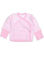 """Распашонка для новорожденных """"Розовый жирафик"""" (56,62 интерлок) Татошка"""