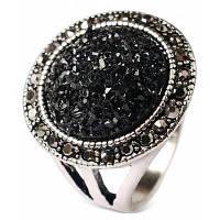 Классическая Алмаз-шипованных Серебряный сплав палец кольцо 8