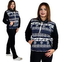 234a7d294e19 Теплый зимний спортивный костюм женский широкая горловина брюки прямые  батальный