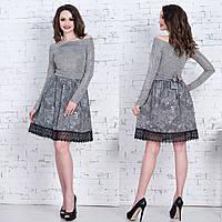 """Короткое модное платье демисезон """"Сангрия"""", фото 1"""