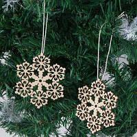 10 Шт. Рождественские Украшения Деревянная Снежинка Висит дерево