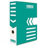 Короб архивный Buromax BM3261,картон,10см в ассорт. Бирюзовый