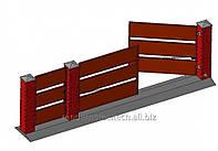 Ворота двустворчатые с калиткой