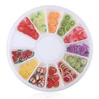 DIY Цветочный стиль гель для ногтей полимерный глина Set фрукты