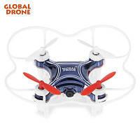 Global Drone GW009C-1 РУ мини квадрокоптер с WiFi и камерой Синий
